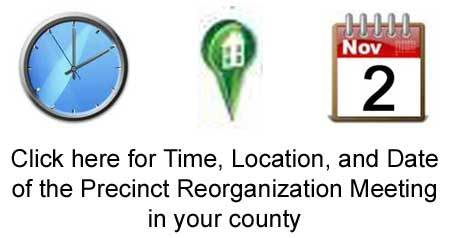 Precint reorganization date, time, and location